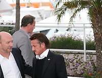 Paul Haggis and Sean Penn at the HAÏTI CARNAVAL IN CANNES photocall at the 65th Cannes Film Festival. Friday 18th May 2012 in Cannes Film Festival, France.