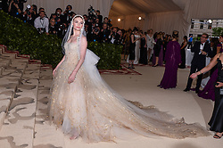 Kate Bosworth walking the red carpet at The Metropolitan Museum of Art Costume Institute Benefit celebrating the opening of Heavenly Bodies : Fashion and the Catholic Imagination held at The Metropolitan Museum of Art  in New York, NY, on May 7, 2018. (Photo by Anthony Behar/Sipa USA)
