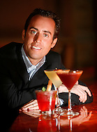 Martini Park CEO Christopher Barish poses for a portrait in his restaurant located at 151 W. Erie St. in Chicago on Monday, July 9, 2007. (Chicago Sun-Times)