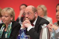 14 APR 2013,AUGSBURG/GERMANY:<br /> Martin Schulz, SPD, Praesident Europaeisches Parlament, nachdenklich, a.o. SPD Bundesparteitag, Messe Augsburg<br /> IMGE: 20130414-01-265<br /> KEYWORDS: Parteitag, party congress,