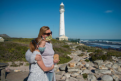 Rock artist Lara Thompson and her daugther Shae, 12, near Slangkop light house in Kommetjie, Cape Town, Thursday, July 17, 2020. PHOTO: EVA-LOTTA JANSSON