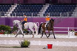 Blom Merel, NED, Boonzaaijer Janneke, NED, Champ de Tailleur, 252<br /> Olympic Games Tokyo 2021<br /> © Hippo Foto - Dirk Caremans<br /> 26/07/2021