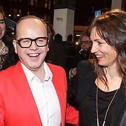 NLD/Amsterdam/20150306 - Boekenbal 2015, Marc-Marie Huijbregts en Daphne Bunskoek