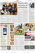 Publicatie in het Zuid Afrikaanse dagblad theHerald. Reünie.