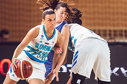 Teja Oblak of Slovenia during Women's Basketball - Slovenia vs Slovaska on the 14th of June 2019, Dvorana Poden, Skofja Loka, Slovenia. Photo by Matic Ritonja / Sportida