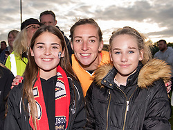 Siobhan Chamberlain of Liverpool Ladies poses with fans at her former club - Mandatory by-line: Paul Knight/JMP - 20/05/2017 - FOOTBALL - Stoke Gifford Stadium - Bristol, England - Bristol City Women v Liverpool Ladies - FA Women's Super League Spring Series