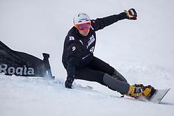 Radoslav Yankov (BUL) during Final Run at Parallel Giant Slalom at FIS Snowboard World Cup Rogla 2019, on January 19, 2019 at Course Jasa, Rogla, Slovenia. Photo byJurij Vodusek / Sportida