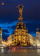 Pillar of the Holy Trinity in the Upper Town Square in Olomouc, Czech Republic