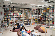 Alipay bookshop in Shanghai university campus. The first of its kind where students can only enter by downloading the Alipay application, they can then peruse the store, read books at their leisure inside the store, and then pay with Alipay at checkout, if they want to take a book with them