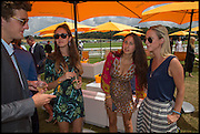 PEREGRINE PEARSON; ARICIAN LAMBIS; TAMASEA LAMBIS; ( PINK ) JESSICA MEYRICK, ( STIPES ) 2004 Veuve Clicquot Gold Cup Final at Cowdray Park Polo Club, Midhurst. 20 July 2014