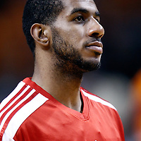 08 March 2011: Portland Trail Blazers power forward LaMarcus Aldridge (12) is seen prior to the Portland Trail Blazers 105-96 victory over the Miami Heat at the AmericanAirlines Arena, Miami, Florida, USA.