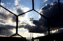 A floodlight silhouetted against the sky at Griffin Park, home of Brentford FC - Mandatory by-line: Robbie Stephenson/JMP - 05/04/2016 - FOOTBALL - Griffin Park - Brentford, England - Brentford v Bolton Wanderers - Sky Bet Championship