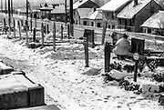 Snow covered cemetery, showing mass killings in 1993, Sarajevo, 1998
