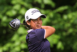 May 26, 2018 - Ann Arbor, Michigan, United States - Julieta Granada follows her shot from the 5th tee during the third round of the LPGA Volvik Championship at Travis Pointe Country Club, Ann Arbor, MI, USA Saturday, May 26, 2018. (Credit Image: © Amy Lemus/NurPhoto via ZUMA Press)
