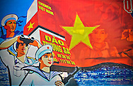 Propaganga sign near Nha Trang beach, Khanh Hoa Province, Vietnam, Southeast Asia