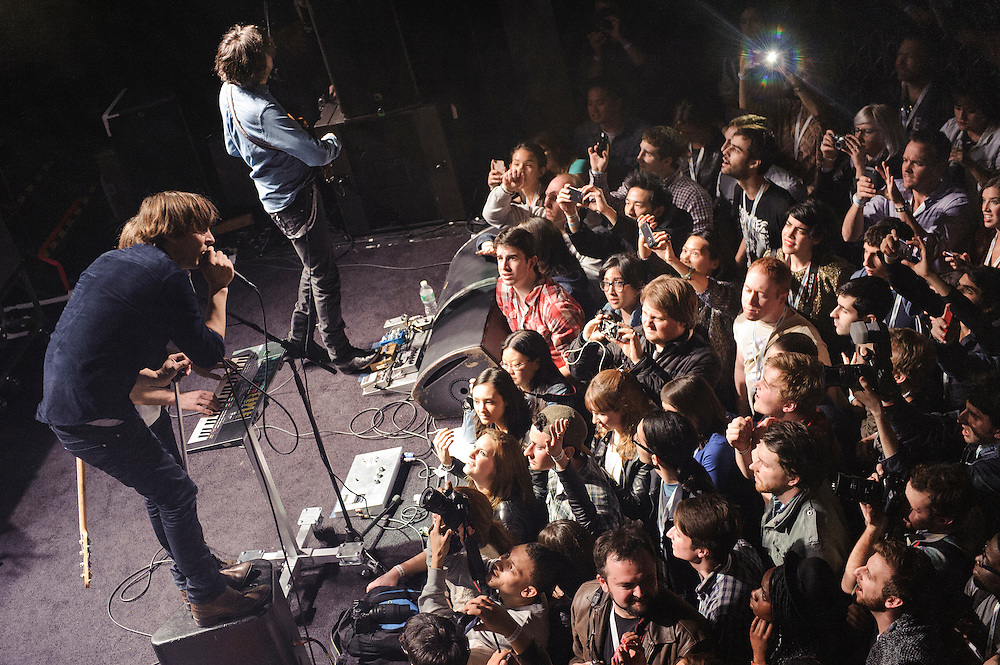 Photos of the band Phoenix performing live at a secret show for SiriusXM at Music Hall of Williamsburg in Brooklyn, NY. April 5, 2013. Copyright © 2013 Matthew Eisman. All Rights Reserved.