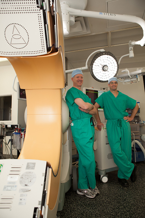 30 April 2012- Dr. Fuller and Dr. Gill are photographed at Immanuel Hospital for Physician's Bulletin Magazine.