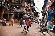 One of the side streets of Bhaktapur Durbar Square.