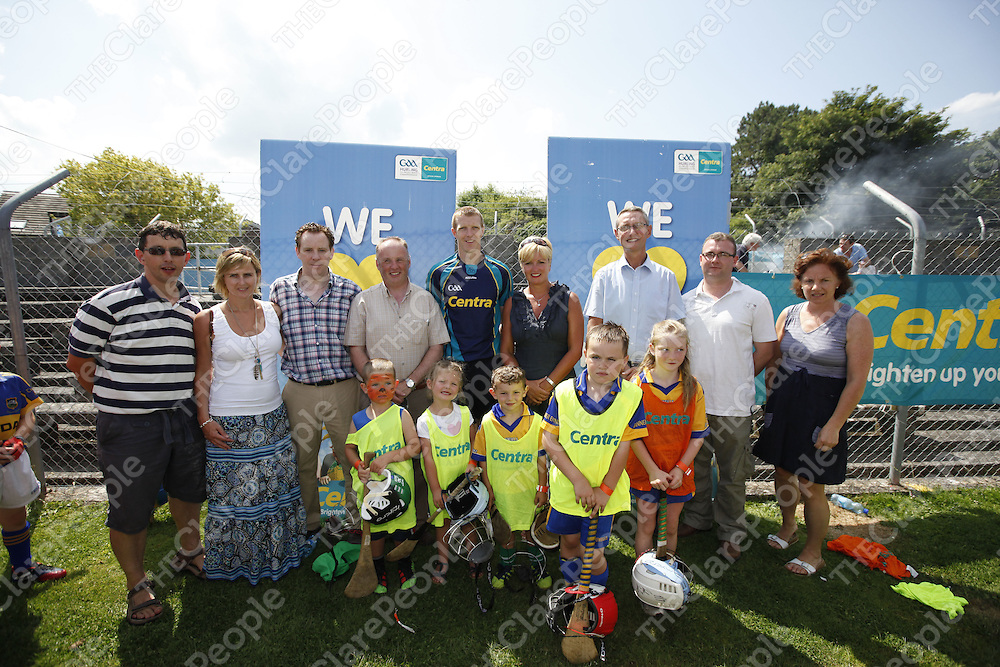 Hurling Star Henry Shefflin with Centra retailers who sponsored the Centra ÕCommunity DayÕ at Cusack Park recently. Over 170 children attended the event and were trained by some of the best of hurling stars Ð Henry Shefflin, John Mullane and Jamsie OÕConnor.  Our picture shows from left  Ger Rodgers, Scarriff, Pamela Deasy and Joe Deasy, Clarecastle, Barry Lynch, Gort Road, Henry Shefflin, Kay Ryan and Paul Ryan, Clonroadmore, Kevin Tighe, Corofin, Trish Rodgers, Scarriff.  Athletes front row from left Darren  and Owen Minihan, Paul Rogers, Caoimhe Cahill and Scott Kelly. <br /> Picture Credit Tony Grehan Press 22<br /> Hurling Star Henry Shefflin with Centra retailers who sponsored the Centra 'Community Day' at Cusack Park recently. Over 170 children attended the event and were trained by some of the best of hurling stars – Henry Shefflin, John Mullane and Jamsie O'Connor.  Our picture shows from left  Ger Rodgers, Scarriff, Pamela Deasy and Joe Deasy, Clarecastle, Barry Lynch, Gort Road, Henry Shefflin, Kay Ryan and Paul Ryan, Clonroadmore, Kevin Tighe, Corofin, Trish Rodgers, Scarriff.  Athletes front row from left Darren  and Owen Minihan, Paul Rogers, Caoimhe Cahill and Scott Kelly. <br /> Picture Credit Tony Grehan Press 22