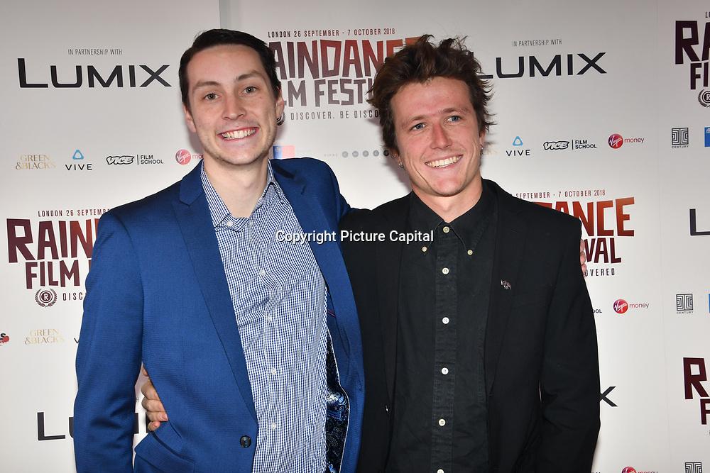 Director Mark Halliday of Vestige and guests attend World Premiere of Team Khan - Raindance Film Festival 2018 at Vue Cinemas - Piccadilly, London, UK. 29 September 2018.