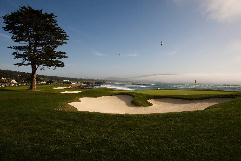 The 18th at Pebble Beach Golf Links is considered by many to be golf's finest finishing hole as it wraps next to the Pacific ocean.