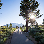The Mammoth Lakes Town Loop is a favorite place for exercising.