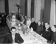 18/11/1952<br /> 11/18/1952<br /> 18 November 1952<br /> Wedding of Lieutenant Seamus Lillis, (son of Colonel James Lillis, Army Chief of Staff) Collins Barracks, Cork and Miss Aureed Mundy, Donegal at Ross Nuala and Bundoran, Co. Donegal. a view of the reception.