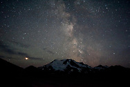 Mt Mageik and the Milky Way as seen from Baked Mountain in the Valley of Ten Thousand Smokes, Katmai National Park