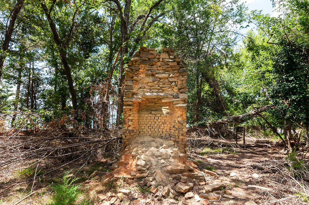 Remains of an old house at Dreher Island State Park in Prosperity, South Carolina on Sunday, August 2, 2020. Copyright 2020 Jason Barnette