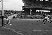 30/04/1967<br /> 04/30/1967<br /> 30 April 1967<br /> National Hurling League, Division II Final: Meath v Kerry at Croke Park, Dublin.<br /> A goal saved by the Meath gaolie, J. Smith.