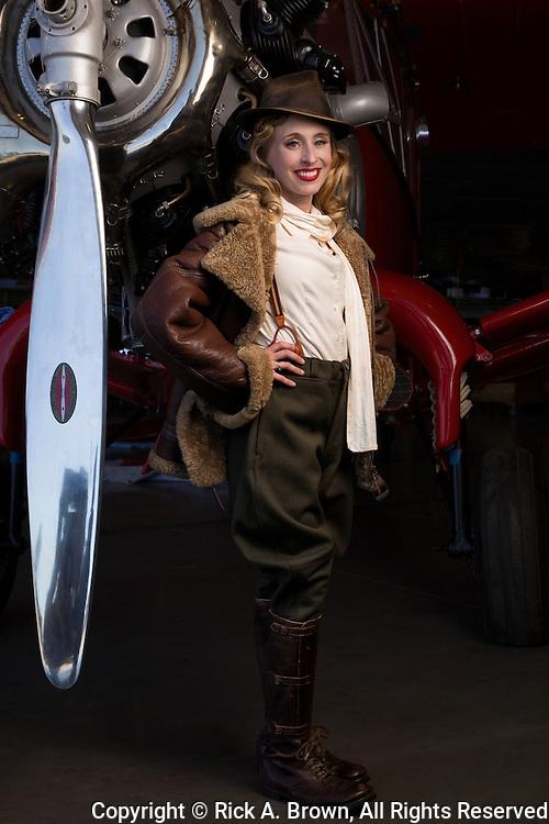 Living historian as aviatrix.