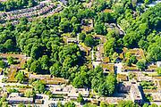 Nederland, Gelderland, Arnhem, 29-05-2019; Mariëndal, Het Dorp, oorspronkelijk gebouwd voor mensen met ernstige lichamelijke of meervoudige handicap. De bungalow woningen (met mos op het dak) worden deels gesloopt / gerenoveerd.<br /> The Village, originally built for people with severe physical or multiple disabilities. <br /> <br /> luchtfoto (toeslag op standard tarieven);<br /> aerial photo (additional fee required);<br /> copyright foto/photo Siebe Swart