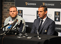 Rugby Union - 2020 Guinness Six Nations Launch Press Conference - Tobacco Dock, London<br /> <br /> Italy coach, Franco Smith and Captain, Luca Bigi <br /> <br /> COLORSPORT/ANDREW COWIE