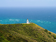 View of the Cape Reinga Lighthouse, furthest north point in New Zealand.