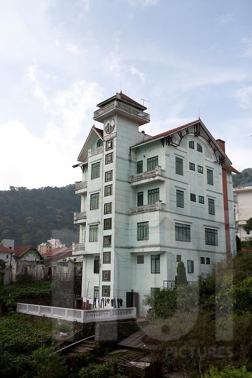 view of a building villa in Tam Dao, Vietnam, Asia