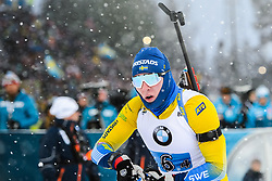March 16, 2019 - –Stersund, Sweden - 190316 Sebastian Samuelsson of Sweden competes in the Men's 4x7,5 km Relay during the IBU World Championships Biathlon on March 16, 2019 in Östersund..Photo: Petter Arvidson / BILDBYRÃ…N / kod PA / 92269 (Credit Image: © Petter Arvidson/Bildbyran via ZUMA Press)