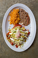 BENTONVILLE, AR - FEBRUARY 15:  Tinga stuffed classic Enchiladas from Yeyo's Mexican Grill at the 8th Street Market in Bentonville, Arkansas.<br /> CREDIT Wesley Hitt for The Wall Street Journal<br /> WALMART-Bentonville Scene-setters
