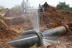 South Africa - Pretoria - 5 October 2020 -  Councillor Shaun Wilkinson at the water pipe behind Bosman Station that is leaking again leaving much of central Pretoria without water.<br /> Picture: Jacques Naude/African News Agency (ANA)