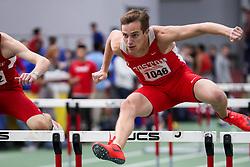 BU Terrier Indoor track meet<br /> Jason Biesma, Boston U, 60 Hurdles,