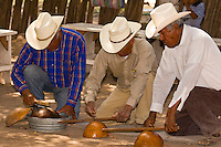 Mayo Indians performing cultural performance (The Deer Dance), Tehueco (near El Fuerte), Mexico