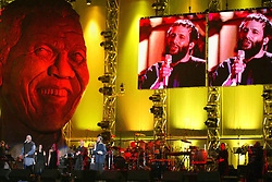 Nov 29, 2003; Cape Town, South Africa; Singers PETER GABRIEL and YUSEF (formerly Cat Stevens) performs at the 46664 'Give 1 Minute of Your Life to Stop AIDS' benefit concert organized by N. Mandela. (Credit Image: © 378/ZBP/ZUMAPRESS.com)