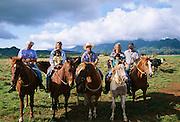 Hawaiian rodeo, Paniolos, Kauai, Hawaii..