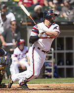 CHICAGO - MAY 19:  Yonder Alonso #17 of the Chicago White Sox bats against the Toronto Blue Jays on May 19, 2019 at Guaranteed Rate Field in Chicago, Illinois.  (Photo by Ron Vesely)  Subject:  Yonder Alonso