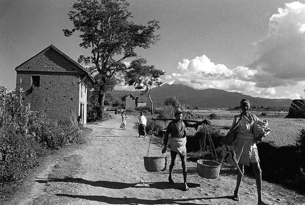 Rural scene near Khatmandhu, Nepal in 1969. Photographed by Terry Fincher
