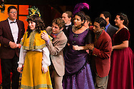"""Goshen, New York - Members of the Goshen High School Drama Club peform on stage during a dress rehearsal of """"Hello Dolly"""" in the auditorium on March 10, 2016."""