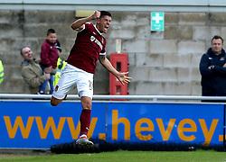 Alex Revell of Northampton Town celebrates scoring an equalising goal to make it 2-2 against Bristol Rovers - Mandatory by-line: Robbie Stephenson/JMP - 01/10/2016 - FOOTBALL - Sixfields Stadium - Northampton, England - Northampton Town v Bristol Rovers - Sky Bet League One