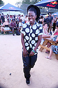 August 22, 2015- Brooklyn, NY-United States:  Author/Photographer Zanele Muholi attends the 2015 AFROPUNK Festival on August 22, 2015 held at Commodore Barry Park in Brooklyn, New York City.  AFROPUNK is an influential community of young, gifted people of all backgrounds who speak through music, art, film, comedy, fashion and more. Originating with the 2003 documentary that highlighted a Black presence in the American punk scene, it is a platform for the alternative and experimental.(Terrence Jennings/terrencejennings.com)