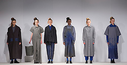 © Licensed to London News Pictures. 31/05/2015. London, UK. Collection by Laura Nice. Fashion show of UCA Epsom at Graduate Fashion Week 2015. Graduate Fashion Week takes place from 30 May to 2 June 2015 at the Old Truman Brewery, Brick Lane. Photo credit : Bettina Strenske/LNP