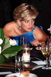 Diana, Princess of Wales, attends the Victor Chang charity dinner today (Thursday).