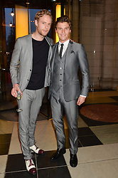 Left to right, JACK FOX and OLIVER CHESHIRE at a VIP preview of the V&A's new exhibition 'The Glamour of Italian Fashion' - a comprehensive look at Italian Fashion from 1945-2014 held at The Victoria & Albert Museum, London on 2nd April 2014.